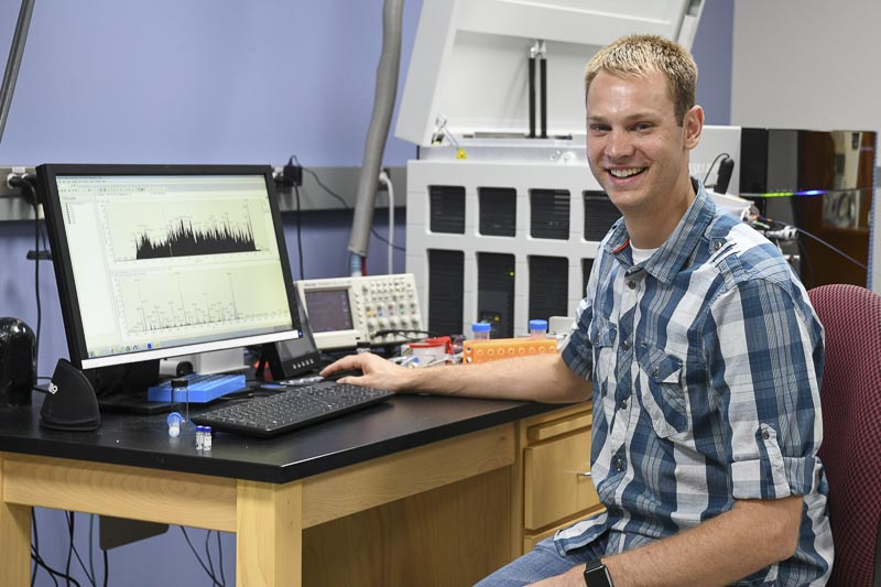 Post-doctoral fellow Kevin Schauer